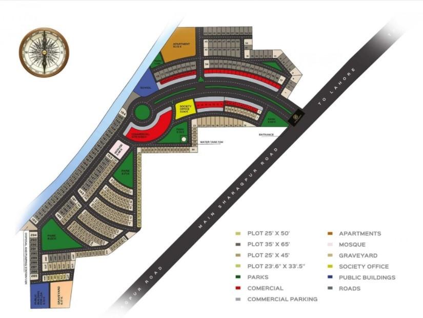 master plan of al noor orchard Lahore