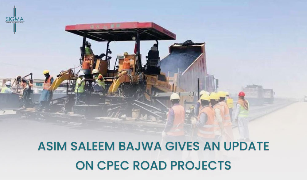 New CPEC Road Project Started chairman cpec tweet