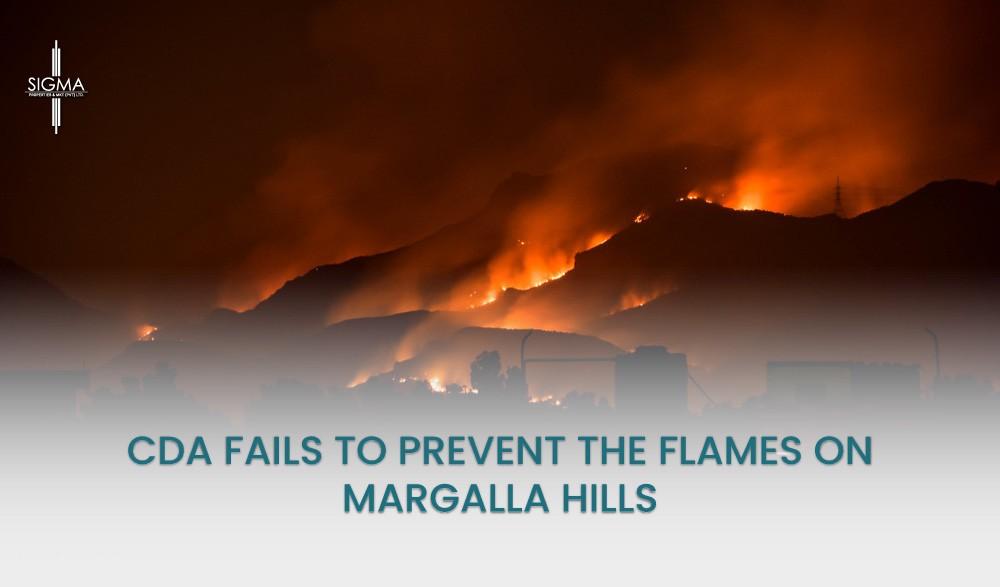 CDA Fails To Prevent The Flames ON Margalla Hills