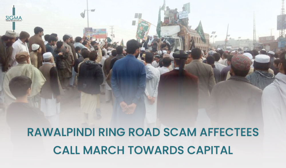 Rawalpindi ring road scam, the affectees call for March towards the Capital