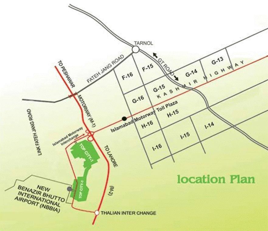 Top City Islamabad Map