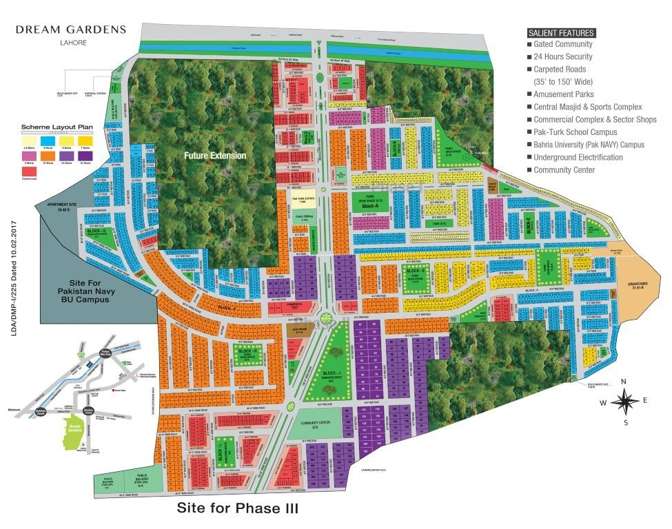 master plan of discovery gardens Lahore