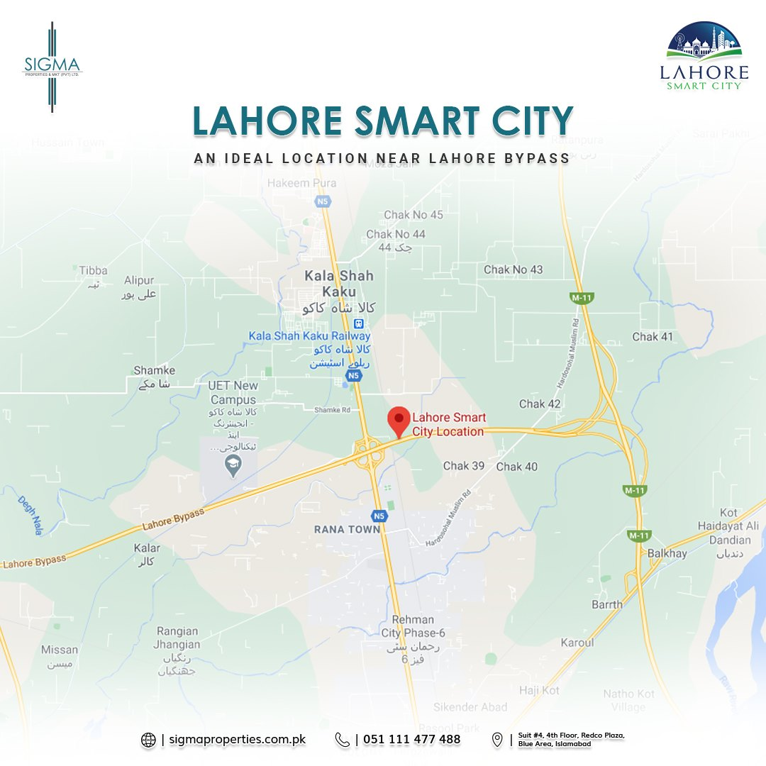 Location Map of Lahore Smart City