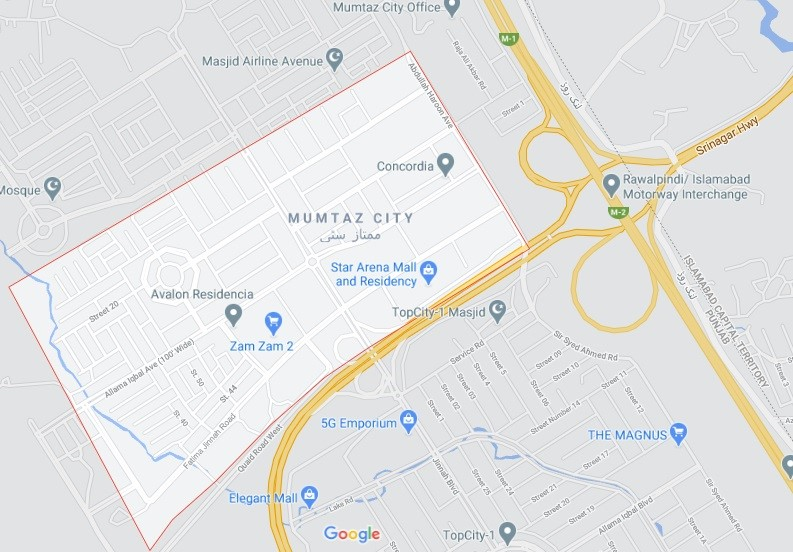 location map of mumtaz city