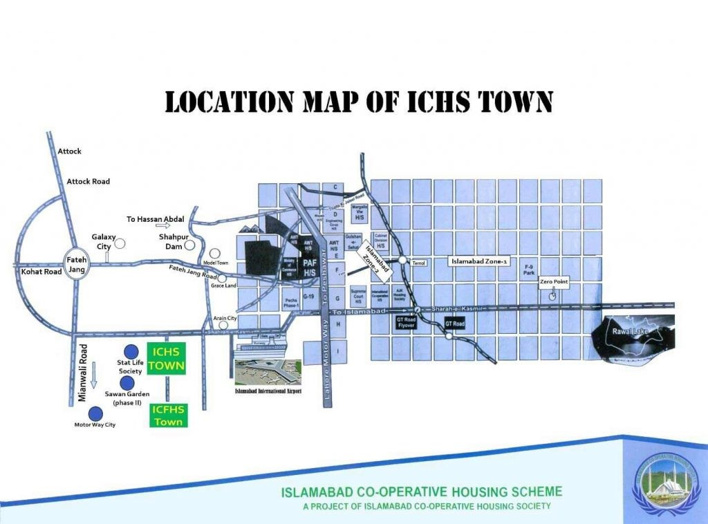 Location Map of ICHS town