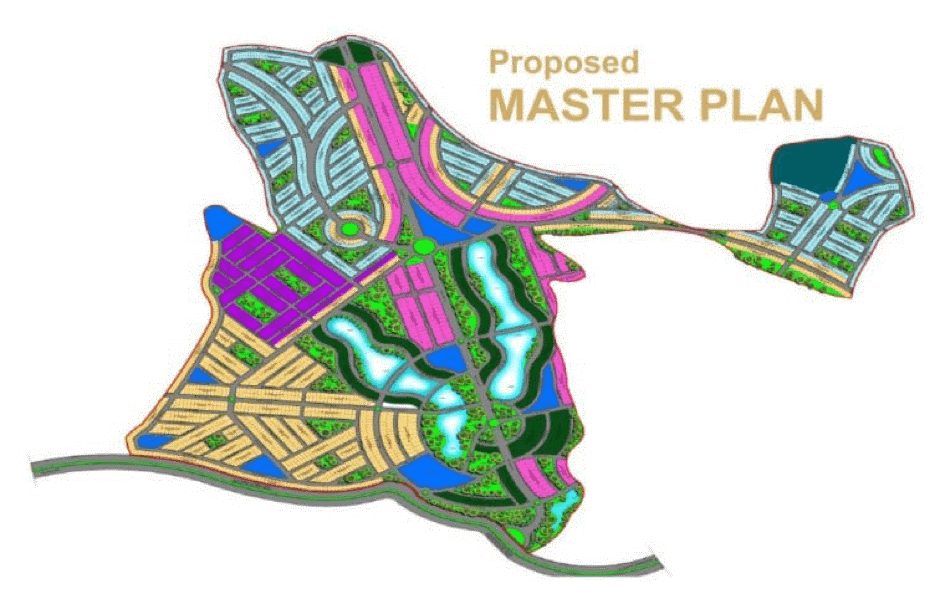 Master Plan of Blue World City Payment