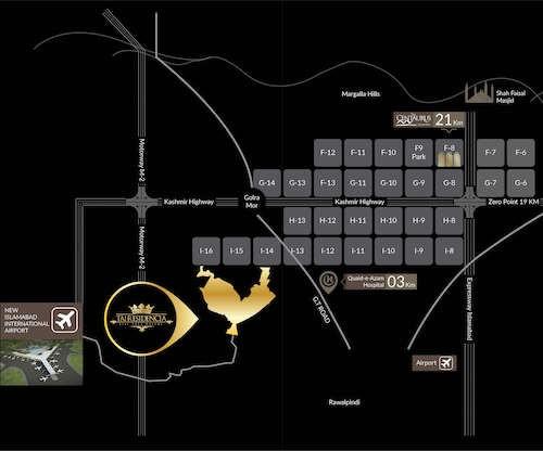 location map of taj residencia