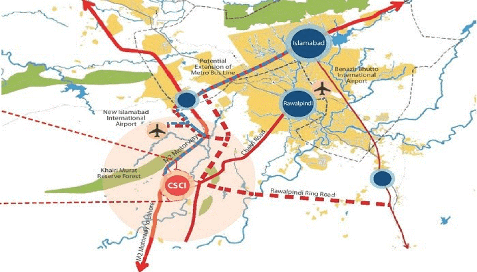 location map of capital smart city