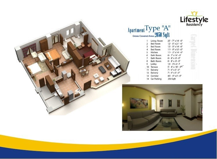 Floor Plans for Category A in lifestyle residency