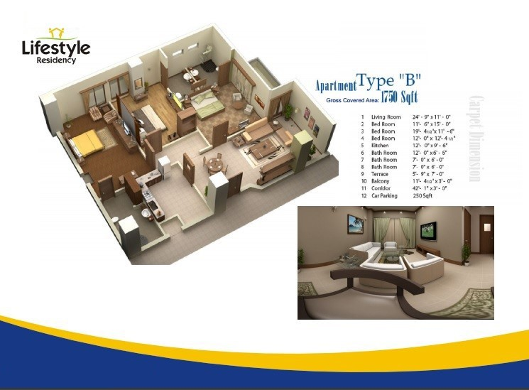 Floor Plans for Category B in lifestyle residency