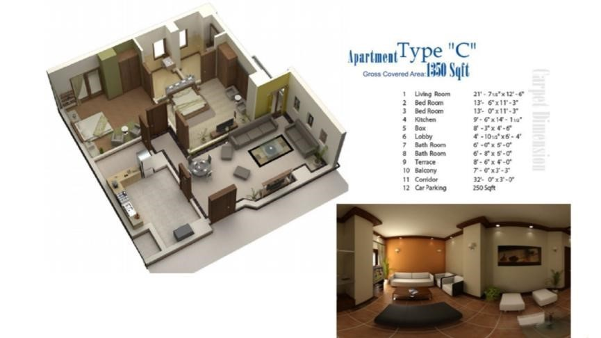 Floor Plans for Category C in lifestyle residency