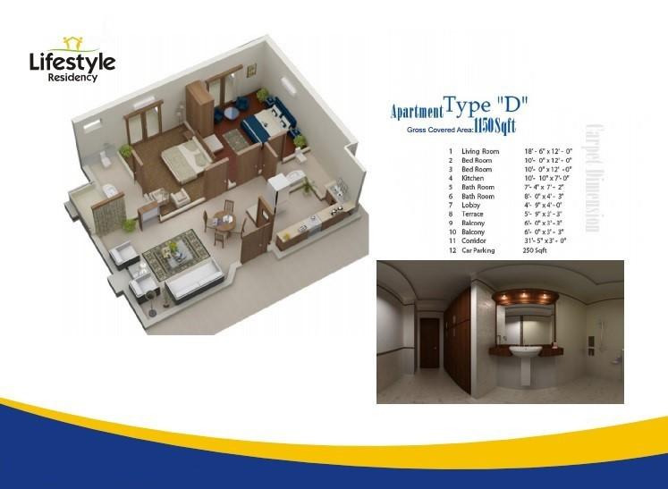 Floor Plans for D category A in lifestyle residency