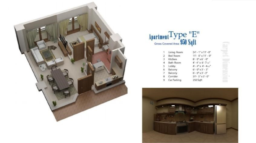 Floor Plans for Category E in lifestyle residency