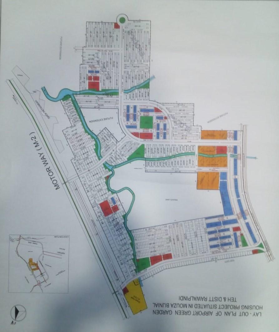 master plan of airport green garden