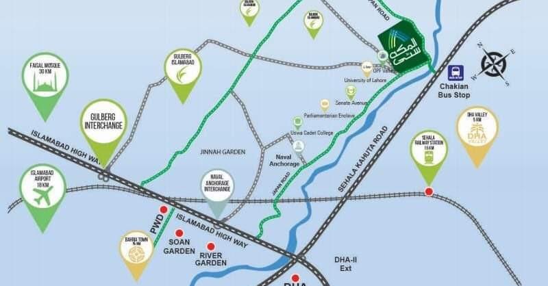 location map of al Makkah city