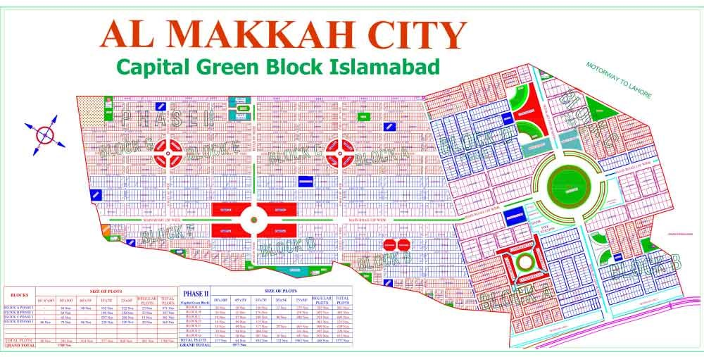master plan of Al-Makkah City Islamabad