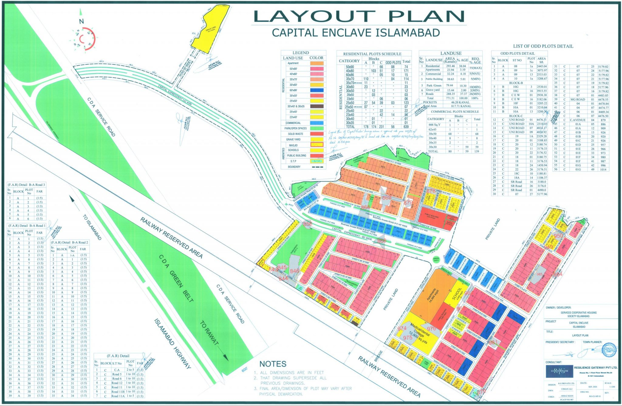 master plan of capital enclave