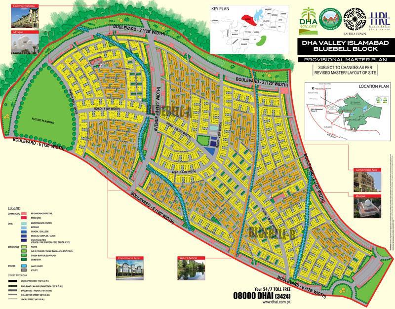 Master plan of DHA Valley Islamabad