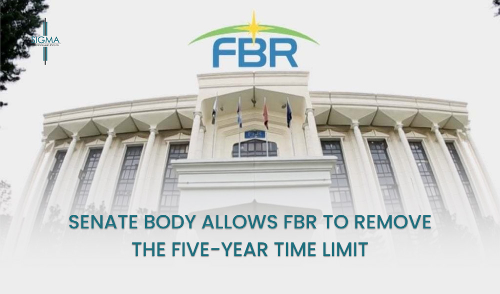 Senate Body Allows FBR To Remove The Five-year Time Limit