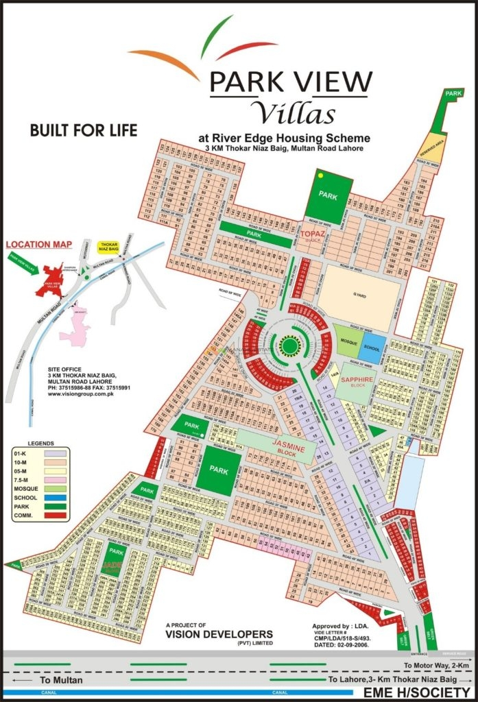 master plan of park view city Lahore