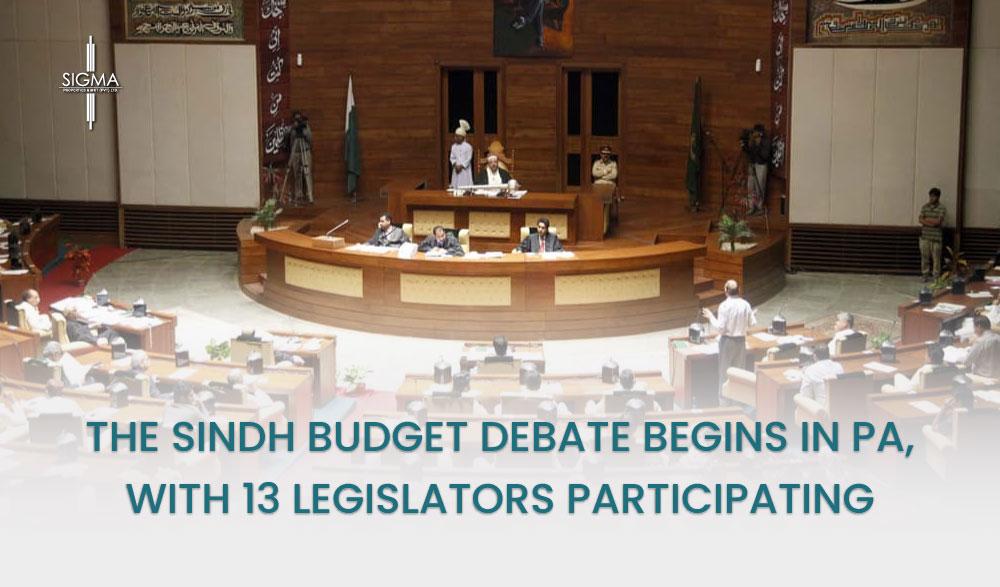 The Sindh Budget Debate Begins in PA, with 13 Legislators Participating