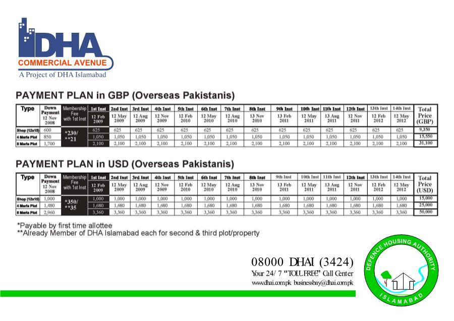 DHA Valley homes payment plan
