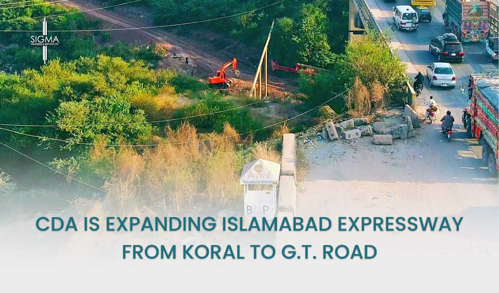 CDA is Expanding Islamabad Expressway From Koral To G.T. Road