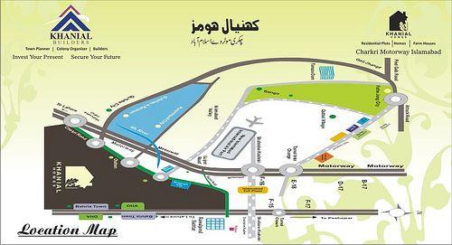 Khanial Homes Islamabad  location map