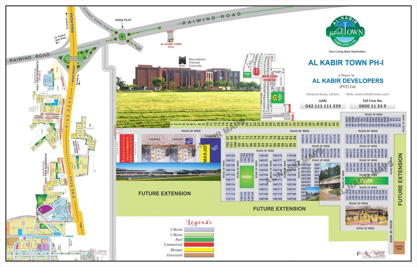 Master plan of the apartments in Al-kabir town