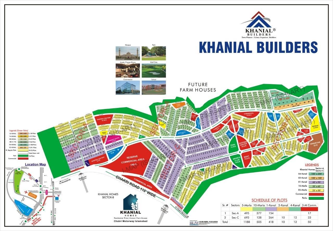 Khanial Homes Islamabad master plan