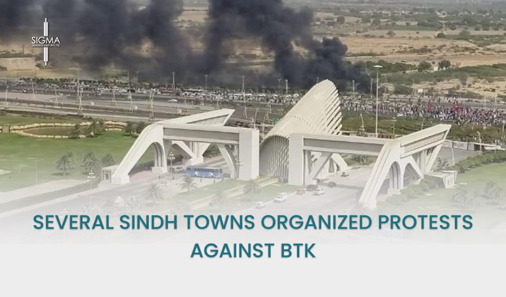 Several Sindh Towns Organized Protests Against BTK