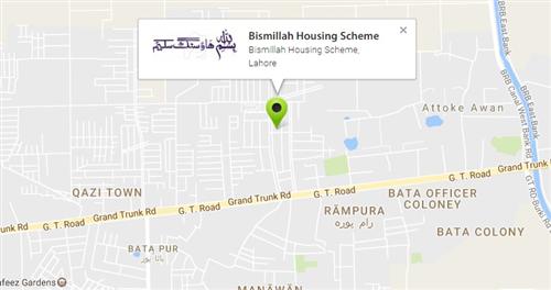 location map of Bismillah Housing Scheme