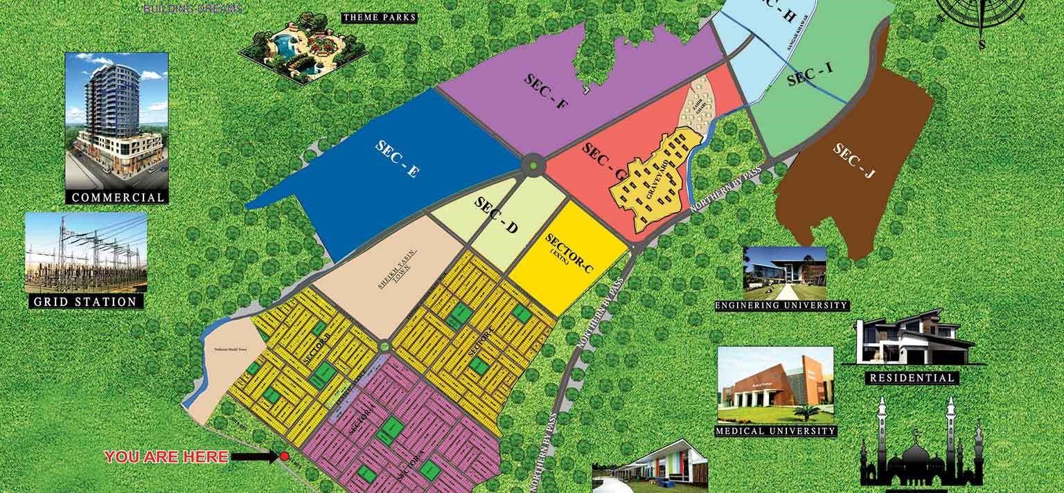 DHA Peshawar master plan