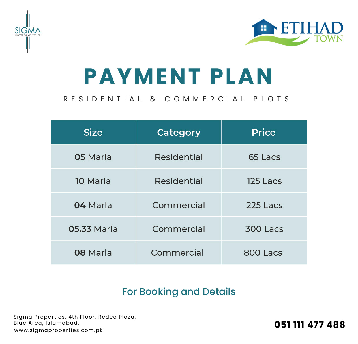 Etihad Town phase 2 payment plan