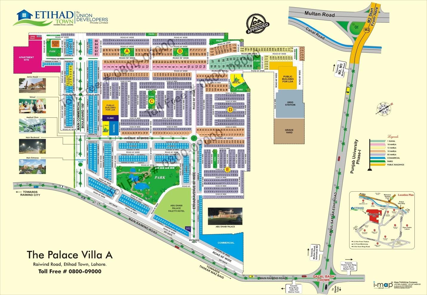 Etihad Town Lahore master plan