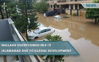 Nullahs Overflowed in E-11 Islamabad due to Illegal Development
