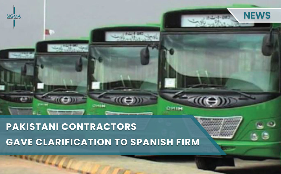 Pakistani Contractors Gave Clarification To Spanish Firm About Green Line Project