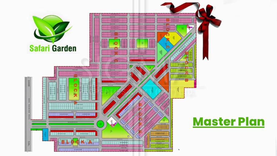 master plan of Safari Garden Lahore
