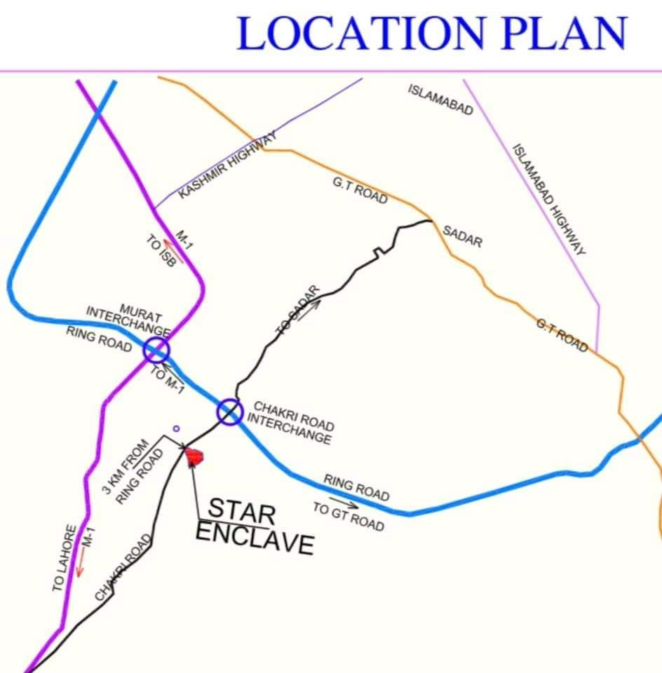 Star Enclave Islamabad location map