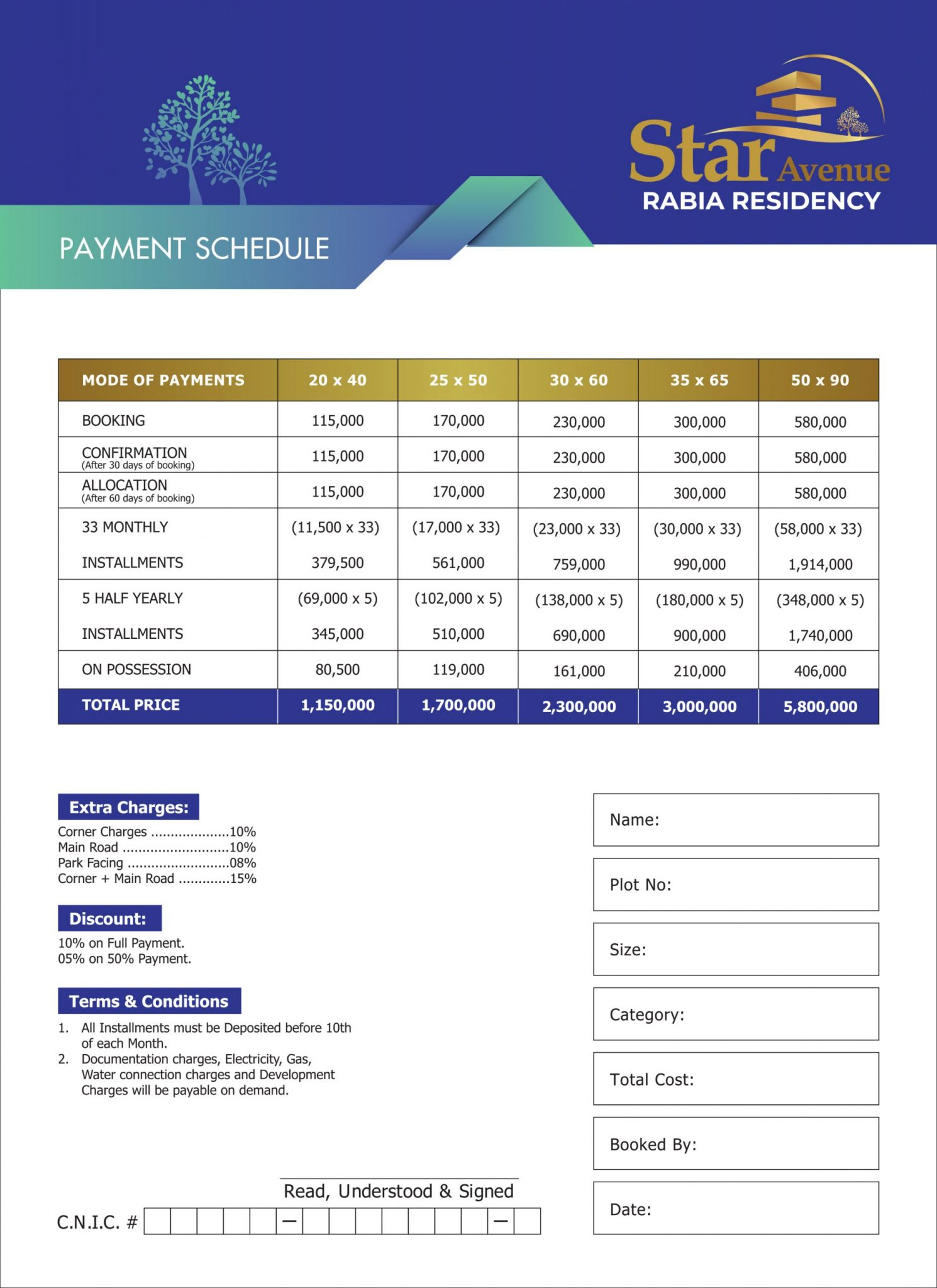 Star Enclave Islamabad payment plan