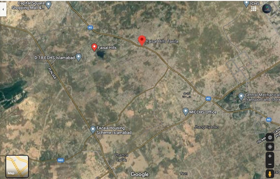 faisal hills Islamabad location map