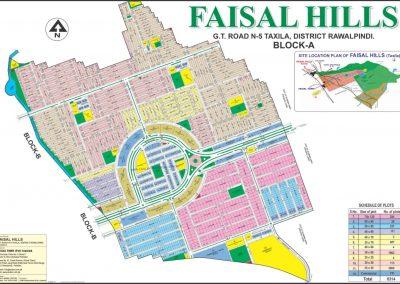 faisal hills Islamabad master plan of Block A