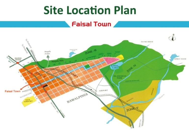 location map of faisal town
