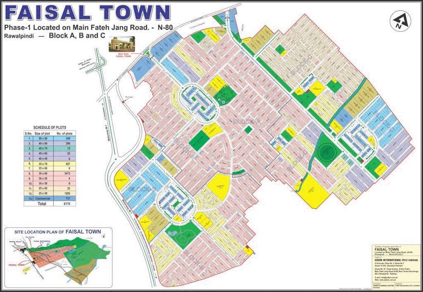 master plan of faisal town