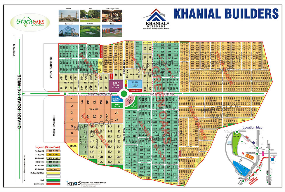 master plan of Green Oaks Farm Islamabad