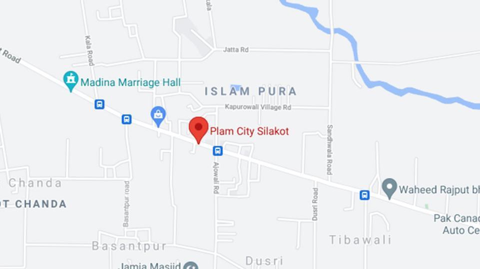 Palm City Sialkot Locationmap