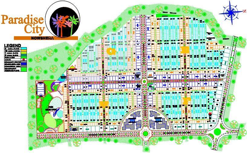 master plan of Paradise city