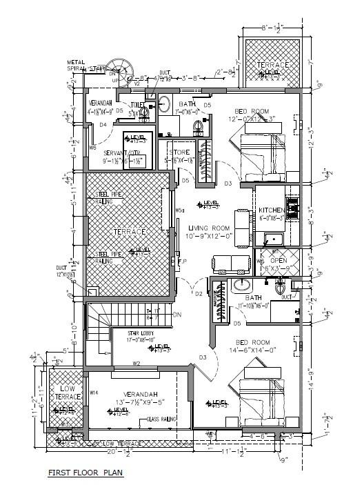 10 marla smart villas blueprint first floor