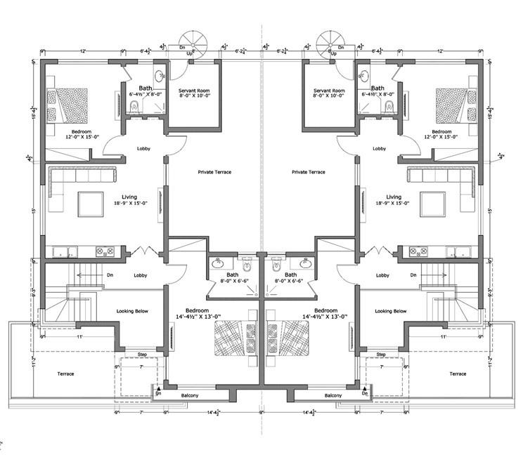 12 marla smart villas blueprint first floor