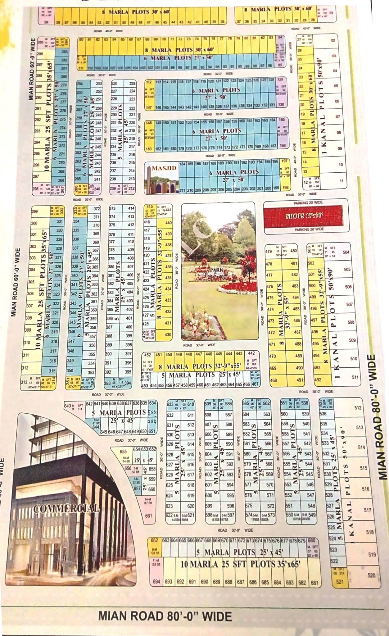Al Rehman Garden Lahore master plan